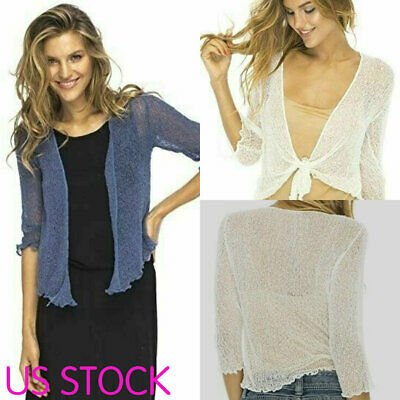 Fashion Summer Womens Tops Lace Sheer Shrug Cardigan Lightweight Mini Coat Fashion Women Lace