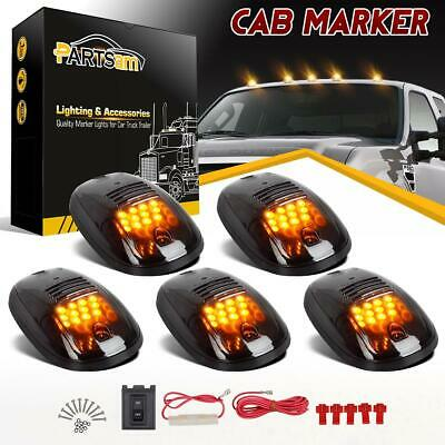 264146BK Amber LED Cab Lights Kit Smoked 5pcs For Dodge RAM 2500 3500 2003-2018