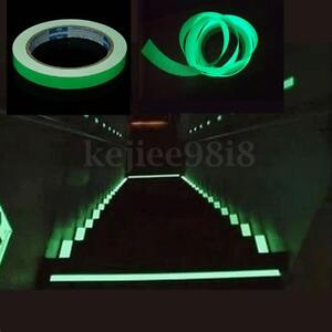 12mmX10M Self-adhesive Luminous Tape Strip Glow In The Dark Home Decoration Safe