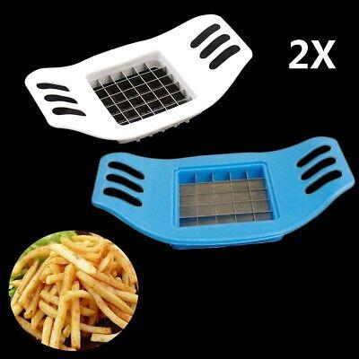 2X French Fry Potato Chip Cut Cutter Fruit Slicer Chopper Chipper Blade Cut French Fry Potato Cutter