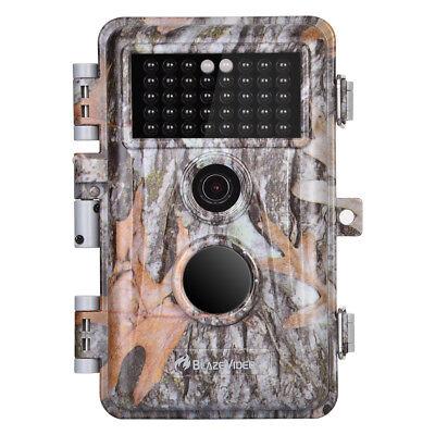 BlazeVideo 16MP 1080P Wildkamera mit Infrarot-Nachtsicht IP66 Wasserdicht Nacht