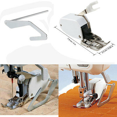 Sewing Machine Screw-on Even Feed Walking Foot for Brother Singer w/ Quilt Guide
