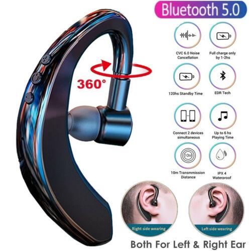 Wireless Bluetooth 5.0 Earpiece Headset Driving Trucker Earbuds Noise Cancelling