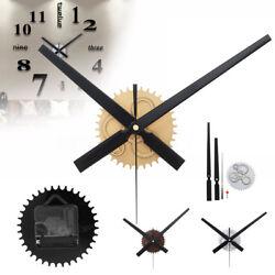 Large Wall Clock Quartz Movement Mechanism Repair Set DIY Hands Kit Parts Tool