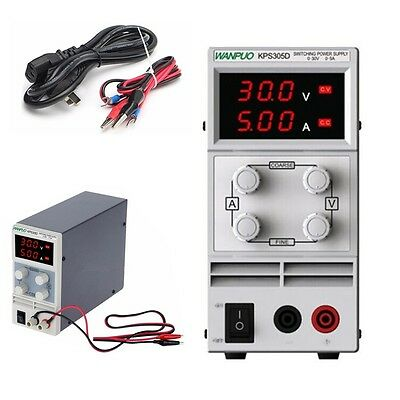 030v 05a Adjustable Dc Power Supply Switch Digital Lab Test 110v 220v