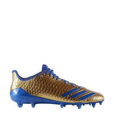 585f1c798 New Adidas 5-Star 6.0 Gold Football Lacrosse Cleats Size 14 Royal Blue Snake