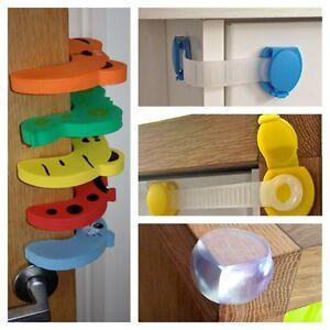 petit enfant safety s curit protection butoir de porte tiroir armoire serrure ebay. Black Bedroom Furniture Sets. Home Design Ideas