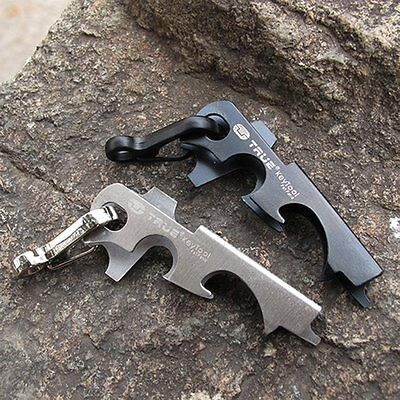 Survival Camping Hiking Rescue Gear Pocket 8 in 1 Keychain Outdoor Multi Tool