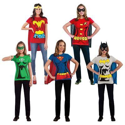 Rubies Weiblich Superheld Erwachsene Damen Dc Comics T-Shirt - Helden Kostüme Weiblich