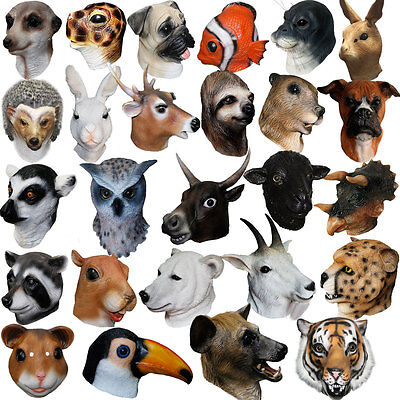Animale lattice Puntelli Maschera Testa di Carnevale Masquerade di Halloween ](Maschera Di Halloween)