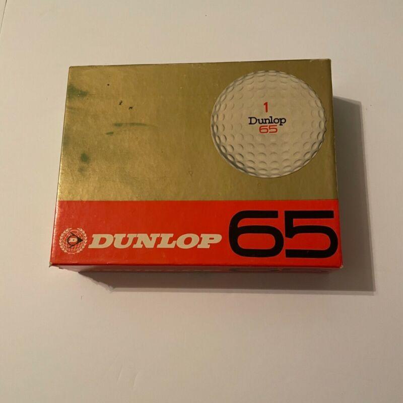 One Dozen Dunlop 65 Vintage Golf Balls