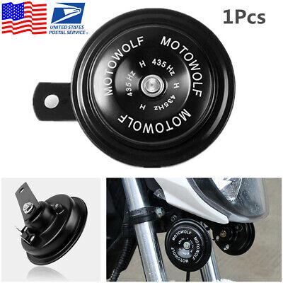 1x Waterproof 12V Motorcycle ATV 110DB Loud Tone Snail Electric Air Horn Speaker