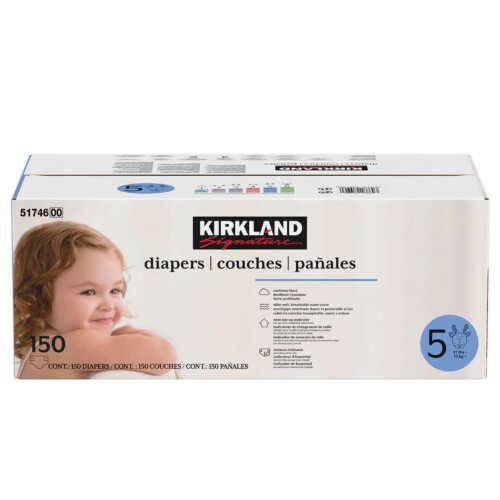 Kirkland Signature Diapers Sizes 5 (27+ lb/12+ kg)