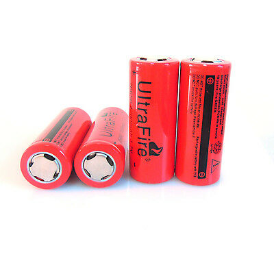 4PCS 3.7V 7200mAh UltraFire 26650  Rechargeable Li-ion Battery For Flashlight on Rummage