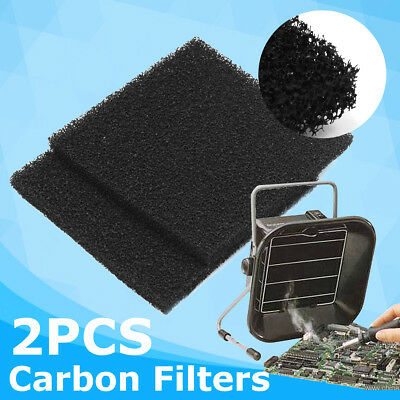 2pcs 13cm Activate Carbon Filter Sponge For Solder Smoke Absorber Fume Extractor