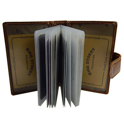 Visitenkartenetui  Kreditkartenhülle Herren Damen Leder Tasche Etui 1163 Braun