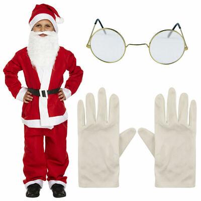 NEW KIDS BOYS SANTA CLAUS CHILD XMAS FANCY DRESS COSTUME CHRISTMAS SUIT OUTFITS