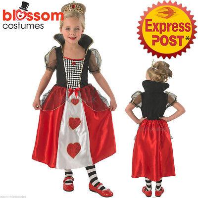 CK419 Girls Queen of Hearts Alice in Wonderland Book Week Fancy Dress Up Costume