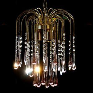 leuchter lampe murano glas wasserfall tropfen luster ebay. Black Bedroom Furniture Sets. Home Design Ideas