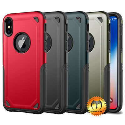 Mosafe® Shockproof Bumper Hard Case Cover for iPhone XS Max XR X 8 7 Plus 7 8 XS - Hard Bumper Case Cover