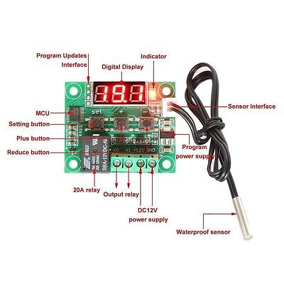 Dc 12v W1209 Digital Coolheat Temp Thermostat Thermometer Temperature Controlle