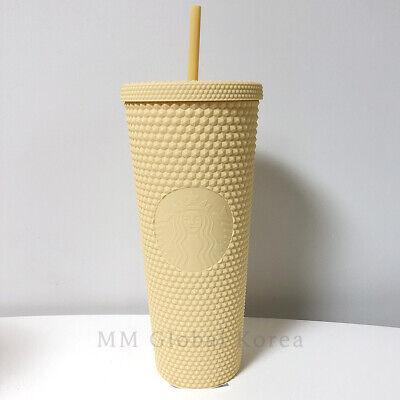 Starbucks 2021 Summer 3 Joy Butter Yellow Matte Stud Cold Cup 710ml Ltd Korea MD