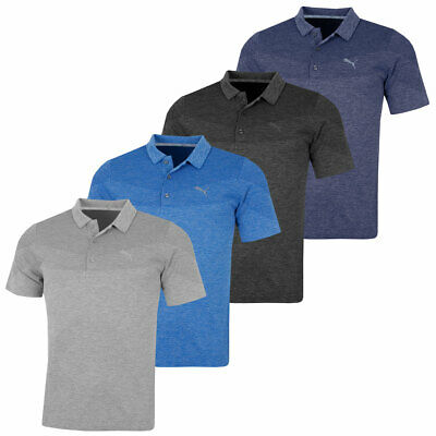 Puma Golf Mens Evoknit Seamless DryCell Moisture-Wicking Polo Shirt 46% OFF RRP