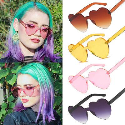 Women Love Sunglasses Heart Shape Frame Trendy Candy Colors Girl Sun - Girl Glasses