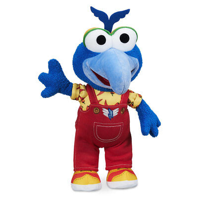 "DISNEY STORE MUPPET BABIES GONZO PLUSH 13"" H AS YOUNGSTER IN COLORFUL OUTFIT"