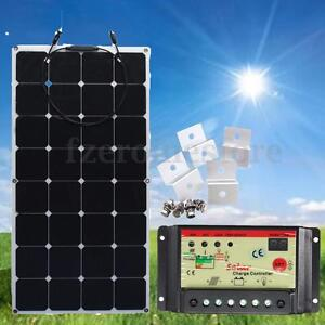 100W-18v-Energy-Semi-Flexible-Solar-Panel-12V-24V-10A-Solar-Controller-Brackets