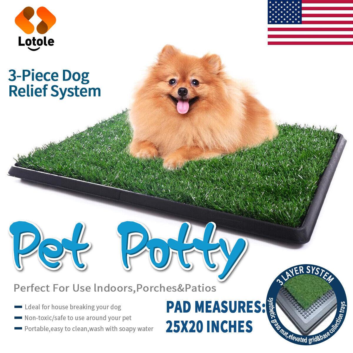 Pet Potty Trainer Grass Mat Dog Puppy Training Pee Patch Pad
