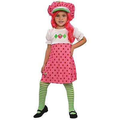Strawberry Shortcake Costume Kids & Toddler Girls Halloween Fancy Dress