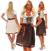 10592 Vestido Dirndl 3 Piezas Regional Mini Blusa Cordones Traje Oktoberfest -  - ebay.es