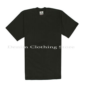 1 NEW PRO CLUB MEN'S BLANK HEAVY WEIGHT SHORT SLEEVE T-SHIRT ANY COLOR S - 5XLT