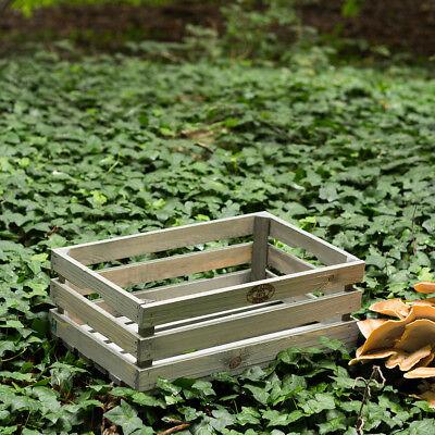 Vintage Caja de Madera Para Decoración, Fruta Y Verduras, Como Florero, Apilable