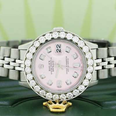 Rolex Datejust Ladies 26mm Steel Jubilee w/Ice Pink Diamond Dial & 1.96Ct Bezel