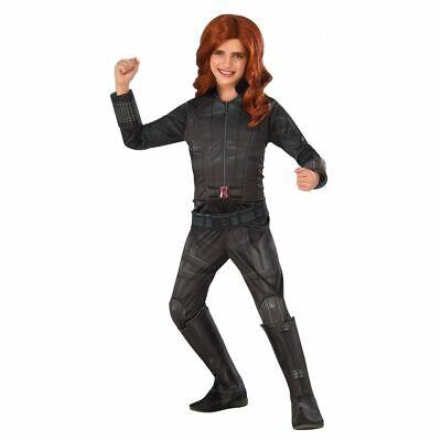 Marvel's Civil War Captain America Black Widow Costume Deluxe Girls Fancy Dress