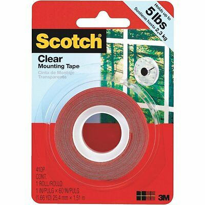 3m Scotch Clear Mounting Tape - 1 X 60 Heavy Duty Double-sided Tape