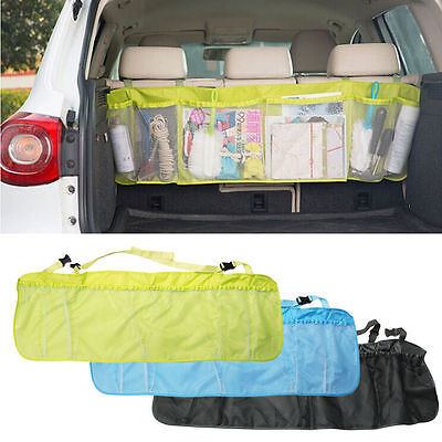 Car Seat Tidy Organiser Travel Storage Multi-Pocket Bag Holder Pouch Blue