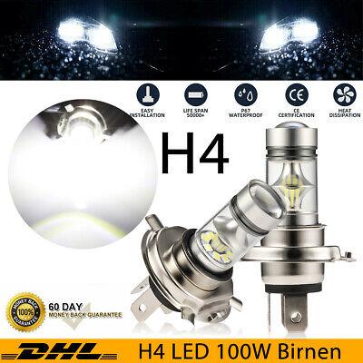 2x 300W H4 LED Scheinwerfer Kit HI-LO Beam Fern / Abblendlicht Birnen 12V-24V