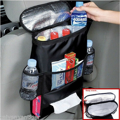 Auto Accessories Car Seat Back Multi-Pocket Insulation Storage Bag Organizer 1pc