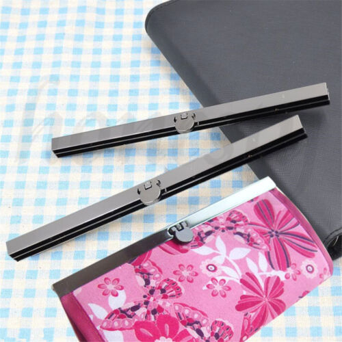 9 Pieces 19cm Metal Coin Purse Wallet Frame Bar Edge Strip Clasp with Screw