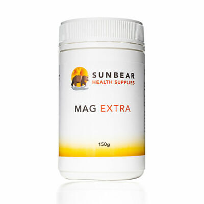 Polvo extra de magnesio 150g - 30 porciones - Sunbear Health Supplies