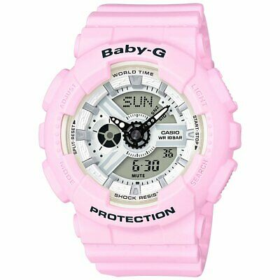 Casio BABY-G SHOCK BA110BE-4A Beach Pink & White Analog Digital Ladies Watch for sale  Shipping to Canada