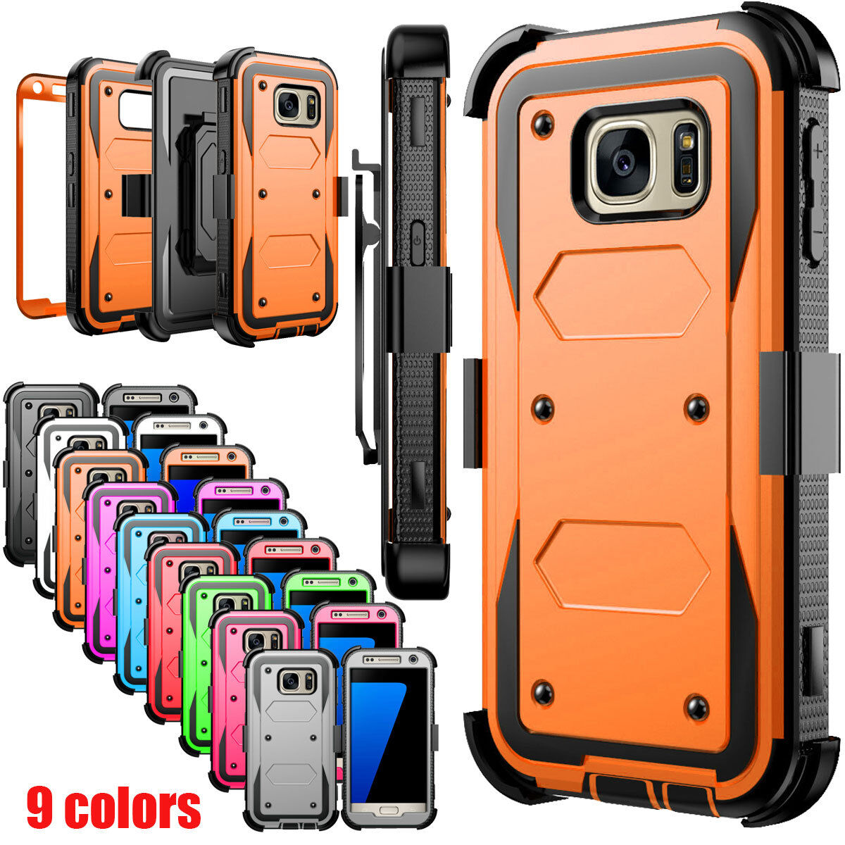 For Samsung Galaxy J7 S7 Edge Phone Case Hybrid Rugged Armor