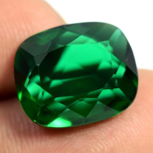 10.70 Ct Russian Chrome Diopside Green Cushion Cut Loose Gemstone Certified