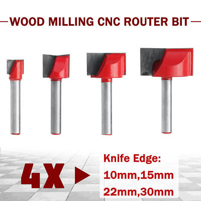 4pcs 10152230mm Surface Planing Bottom Cleaning Wood Milling Cnc Router Bit S
