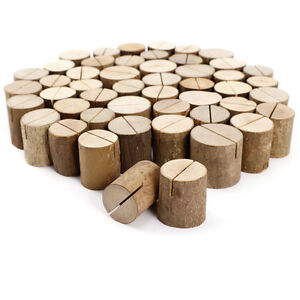 50 x Holz Tischkartenhalter Platzkartenhalter Namenskarten Halter Tischdeko