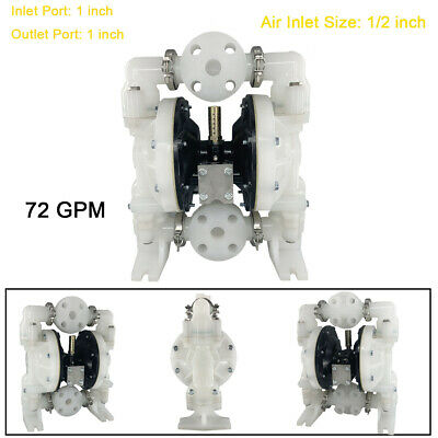 72gpm Air-operated Double Diaphragm Pump With 1 Inlet Outlet For General Acid