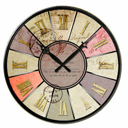 New Large Wall Clocks Antique Europe Retro 38 cm Room Home Decor Wooden Printed